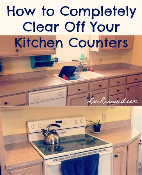 unclutter your life clearing the kitchen counter of how to completely clear off your kitchen counters