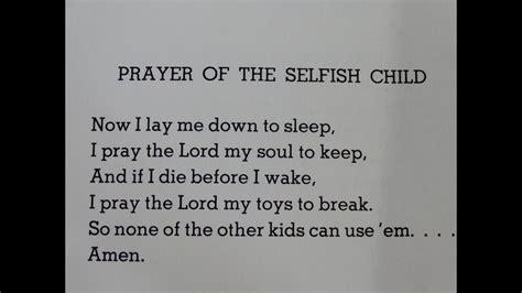 prayer   selfish child  poem  shel silverstein