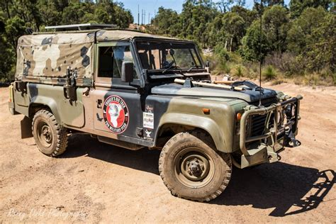 land rover australian army land rover defender 110 on a mission to spread