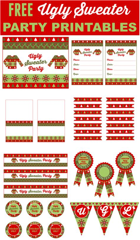 posts in the category printables free page 1 catch my - Free Ugly Sweater Printables