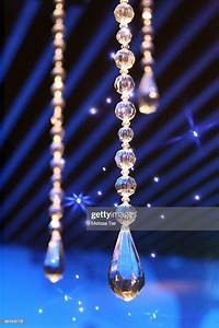 Crystal, Decorations, Hanging, From, Blue, Ceiling, High-res, Stock, Photo