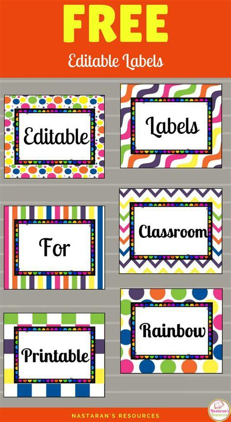 De 25+ Bedste Idéer Inden For Classroom Labels På Pinterest  Klasseværelse Udstillinger