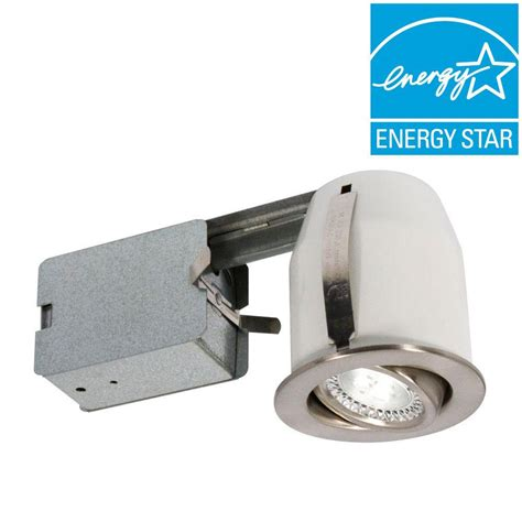 recessed heat l fixture 3 in brushed chrome recessed led lighting fixture 303l5b