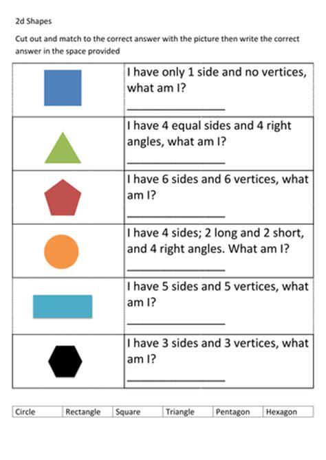 ks  shapes worksheet  thespannerman teaching