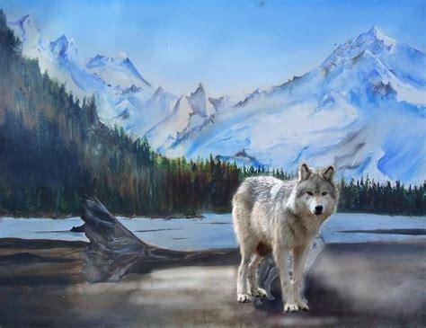 Mountain With Wolf Scene Wip, Advice Please! Wetcanvas