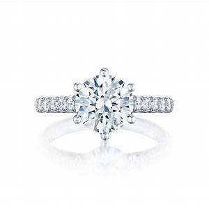 Tacori engagement rings petite crescent solitaire 67ctw for Wedding rings tacori