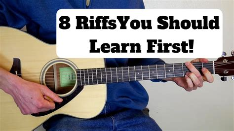 8 Guitar Riffs every Beginner Should Learn First! - YouTube