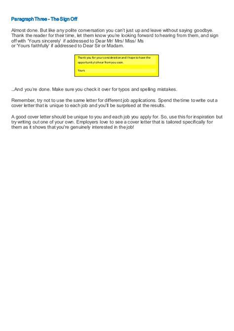 covering letter   job application