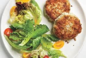 dijon fish cakes  greens recipe real simple