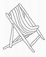 Spring Coloring Pages Deckchair Template Patio sketch template