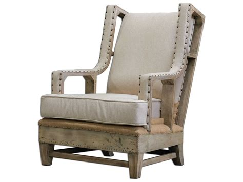 Uttermost Schafer Linen Accent Chair