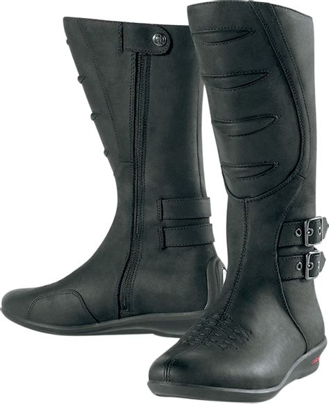 ladies black motorcycle boots icon women 39 s sacred tall motorcycle boot black