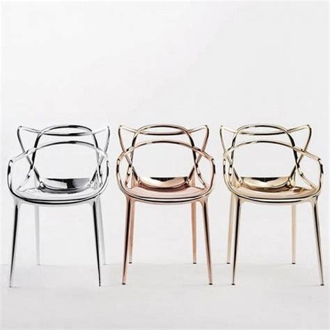 kartell masters chair metallic
