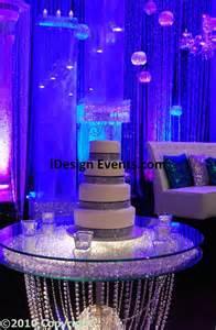 Bling Wedding Cake Table Decoration Idea