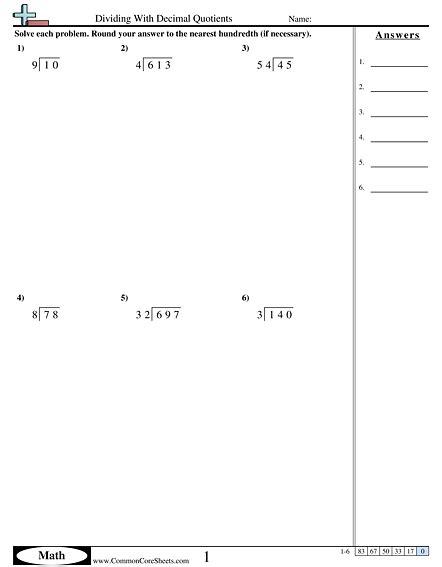 Math Worksheets Dividing Decimals  1000 Ideas About Dividing Decimals On Pinterest Decimal