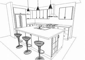 Logiciel Creation Cuisine Gratuit #6 Dessin Armoire De Cuisine Table De Lit SURVL COM