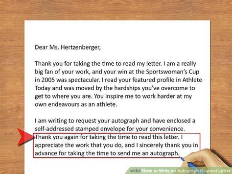 write  autograph request letter  steps