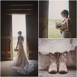 midwest summer farm wedding rustic wedding chic With wedding dress cowboy boots