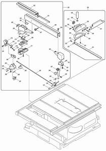 Makita 2704 260mm Table Saw Spare Parts