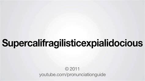 No 6 Wallpaper How To Pronounce Supercalifragilisticexpialidocious Youtube
