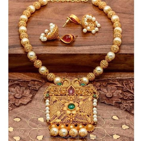 1 Gram Gold Jewelry In India Pictures to Pin on Pinterest