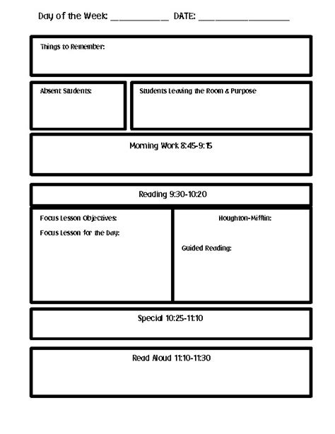 Lesson Plan Template Word Lesson Plan Template Word Sanjonmotel