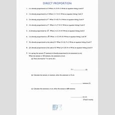Direct Proportion By Martin8baker  Teaching Resources Tes