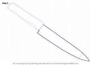 Learn How to Draw a Kitchen Knife (Everyday Objects) Step ...