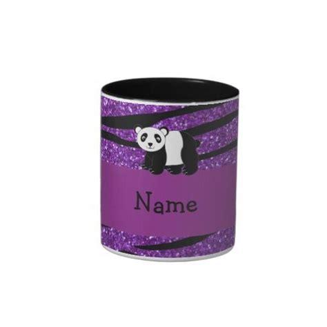 Our glitter ceramic coffee mugs come in two sizes (11 oz. purple coffee mugs   Personalized name panda purple ...