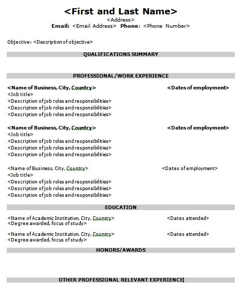 targeted resume template sle targeted resume best professional resumes letters templates for free