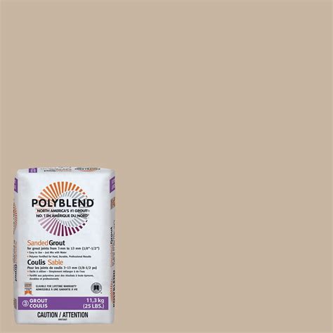 polyblend sanded ceramic tile caulk oyster gray 52 tobacco brown polyblend sanded grout 7lb cpbg527 4
