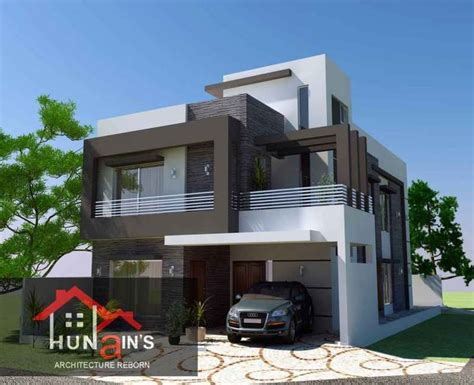 Home Design 10 Marla : 10 Marla-contempoary House-design-architecture-3d Front