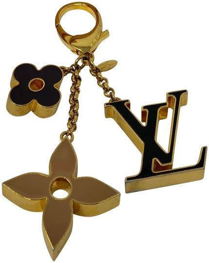 louis vuitton fleur de monogram bag charm tradesy