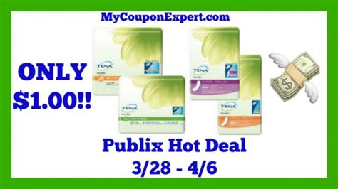 43209 Out Pads Coupons by Publix Deal Alert Tena Serenity Pads Only 1 00 Until