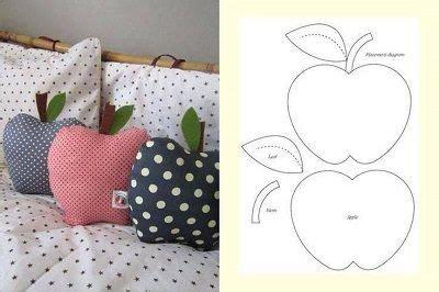 cojinmanzana en tela tutorial costura almohadas de bricolaje cojines  cojines decorativos