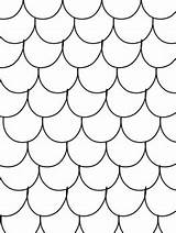 Coloring Pages Scales Patterned Blank Fin Scalloped Fish Dragon Mermaid Pattern Template Drawing Teacherspayteachers Rainbow Fun Project sketch template