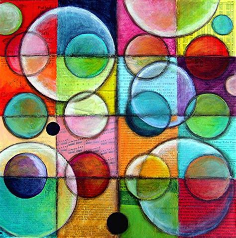 Painting On Canvas Ideas Circles Small Ideas