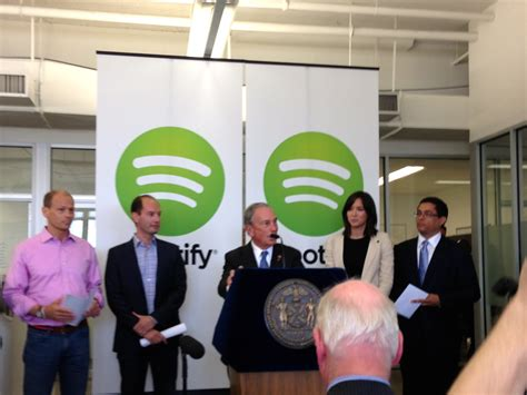 spotify new office michael bloomberg business insider