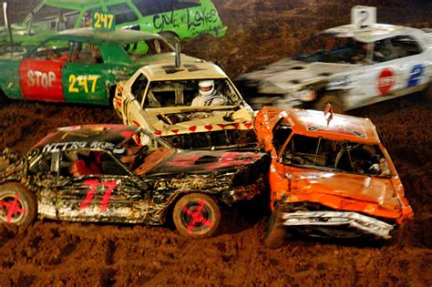 show me a monster truck demolition derby rules for saturday august 6 2016