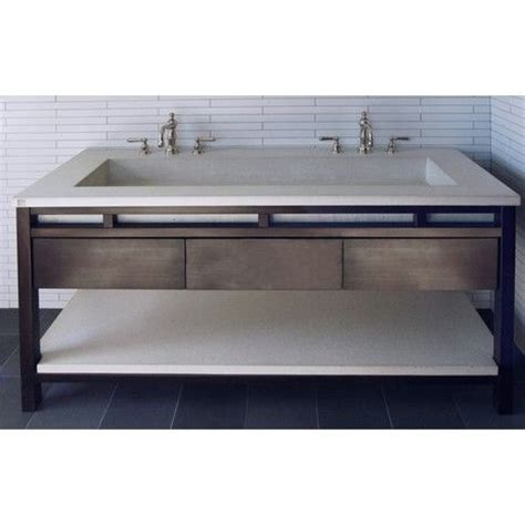 vanity trough sink undermount freestanding contemporary concrete trough sink