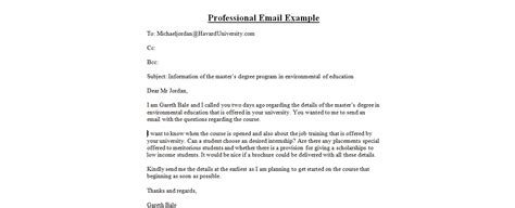 Professional Email Format  Free Business Template