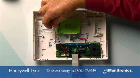 change  honeywell lynx battery youtube