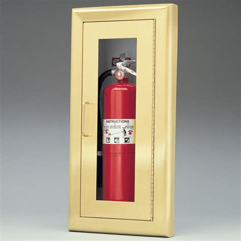 larsen medallion series semi recessed fire extinguisher