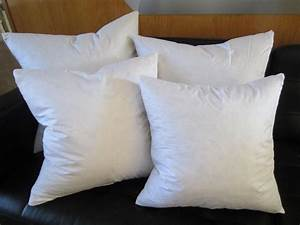 Feather down square euro pillow insert form all sizes for Best euro pillow inserts