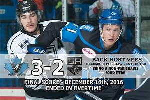SIlverbacks Lose In OT – Vees Visit Tonight | Salmon Arm ...