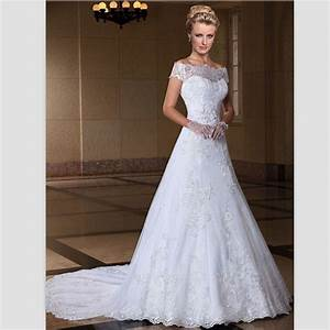 Aliexpresscom buy romatic white lace wedding dresses for Wedding dresses delaware