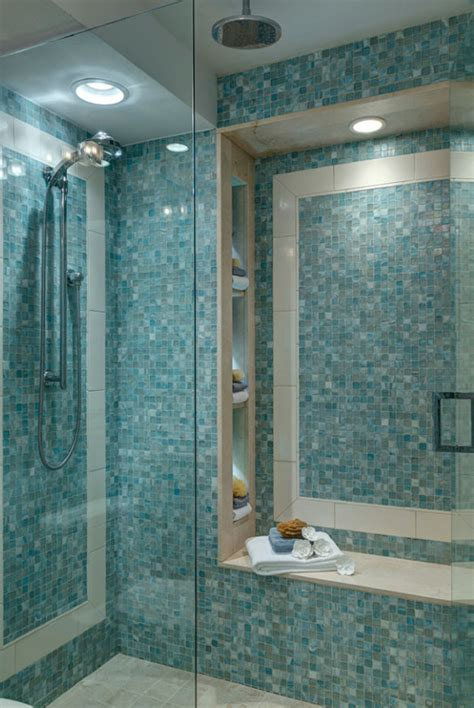 mosaic tile for shower floor 27 walk in shower tile ideas that will inspire you home