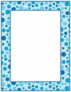 8 Best Images of Polka Dots Printable Baby Borders - Blue ...
