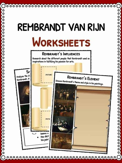rembrandt van rijn facts biography information