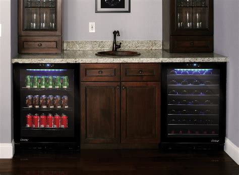 home bar cabinet with refrigerator wine and beverage cooler in home bar contemporary los